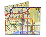 Mighty Wallet Men's NYC, Multi_sub way map, One Size