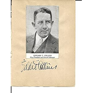 1930's Autograph Book Eddie Collins Herb Pennock 7 Others Rare JSALOA Authentic MLB Autograph