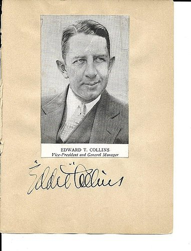 1930's Autograph Book Eddie Collins Herb Pennock 7 Others Rare JSALOA Authentic MLB Autograph