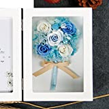 The imports rose Immortal flower photo frame Fresh rose Creative ornaments Mother's day-H