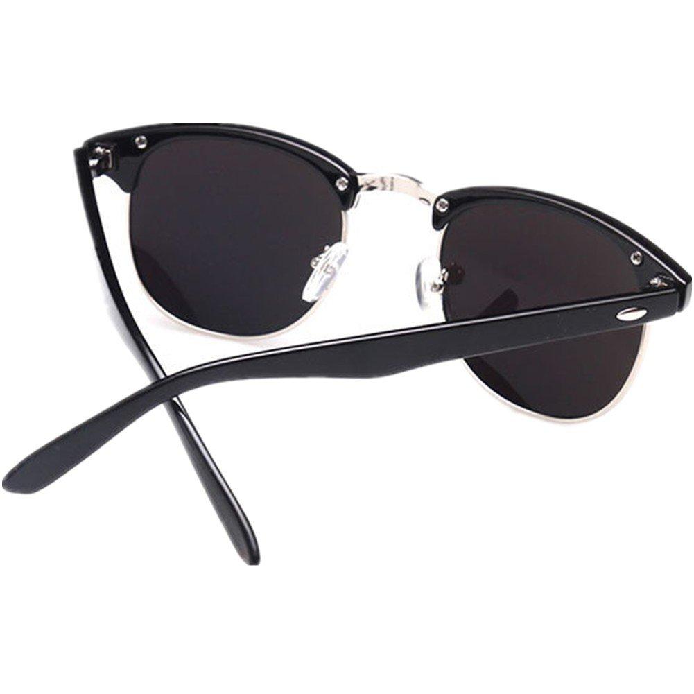 936c0dab37 Product description. Classic Half Frame Semi-Rimless Wayfarer Clear Lens  Glasses ...