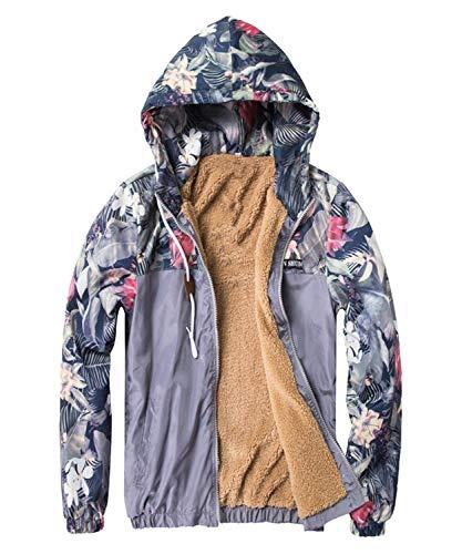 Bomber Chaqueta Jacket Slim Coat Casual Floral De Hombres con Los Hombres Fit Grau Los Gruesa Simple Pilot Bomber Sudaderas Capucha Los De Estilo Floral De Hombres Hip Hop Chaqueta rwHRZrq