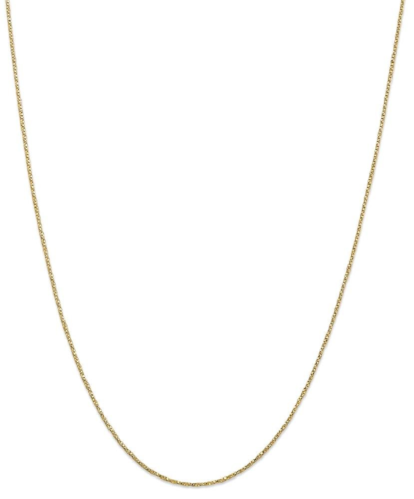 ICE CARATS 14k Yellow Gold .95mm Twisted Link Box Chain Necklace 18 Inch Fine Jewelry Gift Set For Women Heart