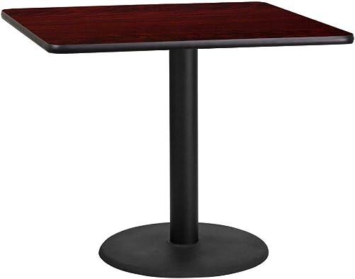Flash Furniture 36 Square Mahogany Laminate Table Top