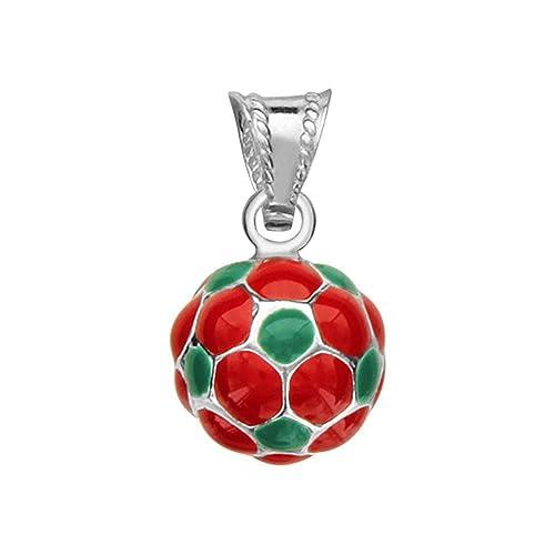 So Chic Joyas - Colgante Hombre Balón Fútbol Portugal Rojo Verde ...