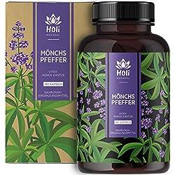 Holi Natural® Mönchspfeffer Extrakt | 180 Kapseln vegan | 30mg je Tagesdosis | ECHTE Vitex Agnus Castus hochdosiert…