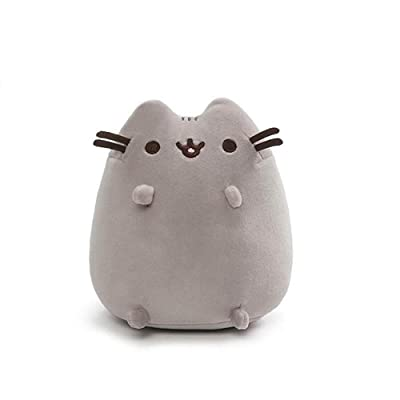 "GUND Pusheen Squisheen Sitting Plush Stuffed Cat, 6"", Multicolor: Toys & Games"