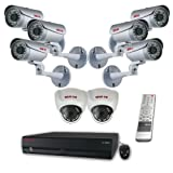 REVO America DVR Kit Surveillance Security System 16 Channel 4TB Network Video Recorder with Built-In 8 Channel PoE Switch and 8 1080p HD Cameras