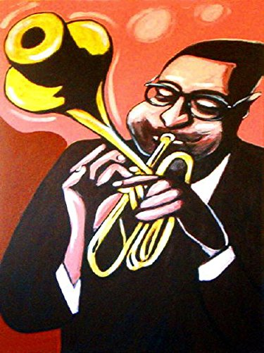 DIZZY GILLESPIE PRINT POSTER cd lp record album vinyl Trumpet massey hall bud powell max roach charlie parker sax sessions - Hall Jazz Trumpet