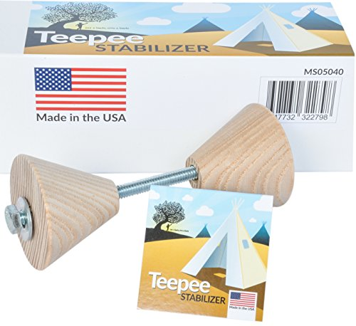 A Mustard Seed Toys Teepee Stabilizer, Spreads poles out and makes teepees more secure and stable to prevent your kids tent from collapsing on toddlers and small kids