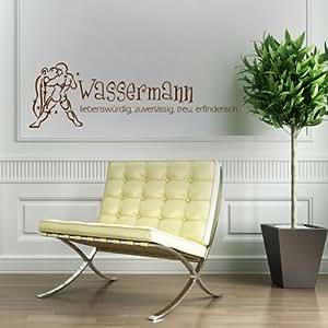 Acuario - pared - 80 x 25 cm - marrón