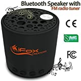 iFox iF010 Bluetooth Speaker - Wireless, TF Card, FM Radio Tuner, AUX Speakerphone Ultra Portable - Pairs with Bluetooth devices - Indoor Outdoor