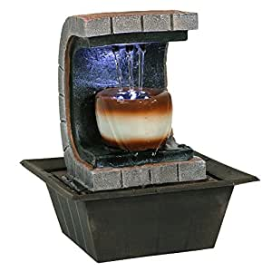 Small Fountain Red Dragon Tabletop Water Fountains Indoor Decor With Led Light