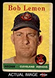 1958 Topps # 2 WT Bob Lemon Cleveland Indians (Baseball Card) (Team Name in White Letters) Dean's Cards 1.5 - FAIR Indians