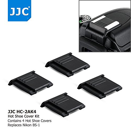 4Pcs Camera Hot Shoe Cover Protector Cap for Nikon Z6 Z7 D3500 D5 D4 D4s D3x Df D850 D810 D800 D750 D610 D500 D7500 D7200 D7100 D7000 D5600 D5500 D5300 D3400 D3300 D3200 Coolpix A P7800, as BS-1 BS-3