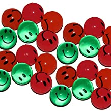 Mini Super Bouncing Balls In Assorted Colors Smiling Faces For Holiday Gift or Stocking Stuffer 1 Inch 25 Pieces Per Pack