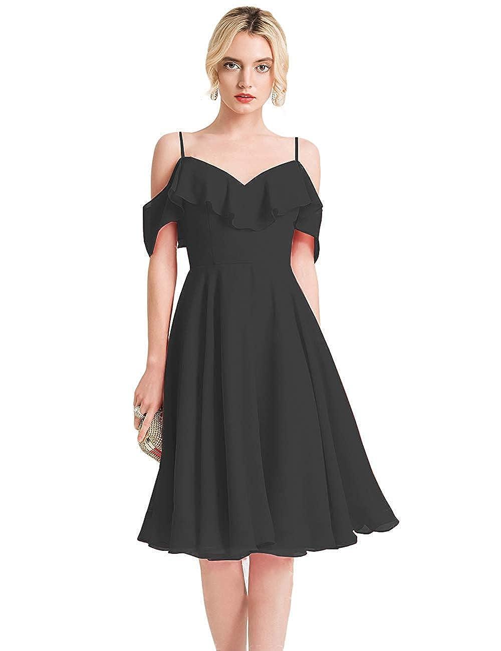 BlackB FeiYueXinXing VNeck Ruffled Spaghetti Strap Prom Dresses Long Formal Evening Gown