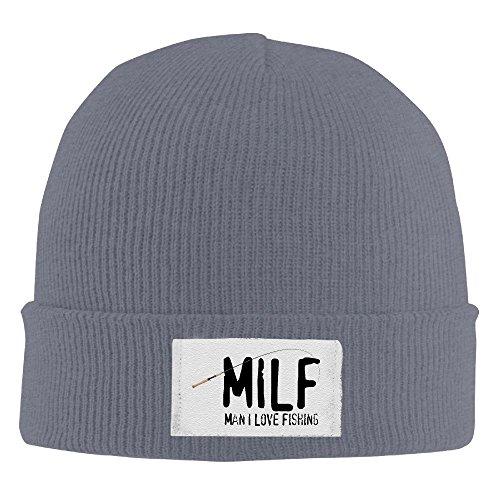 MILF Man I Love Fishing Beanie Cap Asphalt ()