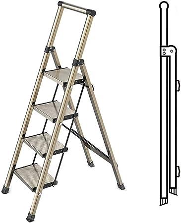 DYB Escaleras Plegables Paso Escaleras Plegables multipropósito de 4 Pasos de Escalera, de aleación de Aluminio Escalera Portátil Casa Jardín Seguridad en la Construcción (Color : Gold): Amazon.es: Hogar