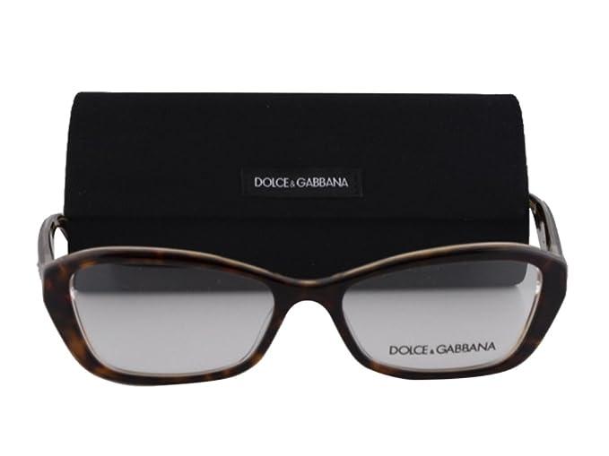 d0436326109 Image Unavailable. Image not available for. Color  Dolce   Gabbana DG3168  Eyeglasses 53-16-135 Havana-Glitter Gold 2738