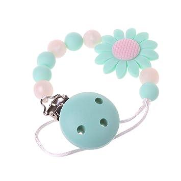 A0127 - Clips de silicona para chupete de niños, con perlas ...