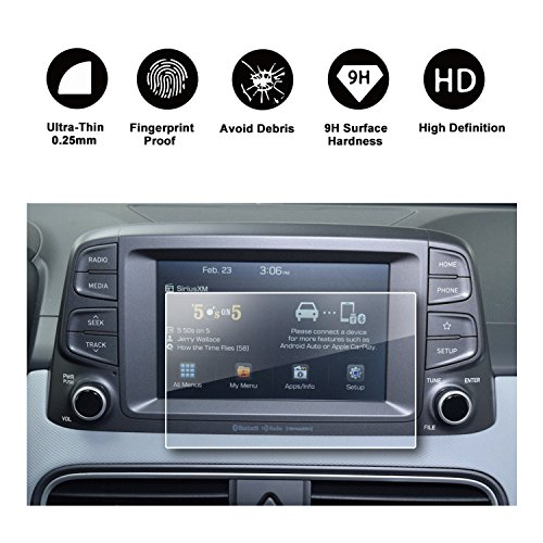 2018 Hyundai Kona Ultimate Touchscreen Car Display Navigation Screen  Protector, HD Clear TEMPERED GLASS Protective Film Against Scratch High  Clarity