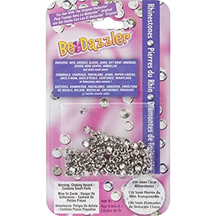 Amazon.com: Be Dazzler Rhinestone Refill 150/Pkg-Clear by ...
