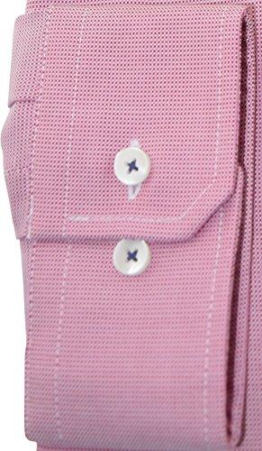 Seidensticker Herrenhemd tailored rotes Hemd Modern Kent langarm ohne Tasche Kollektion Size 40