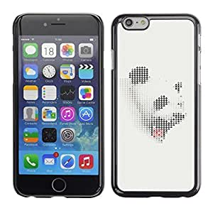 Boast Diy BLOKK case cover / Apple Iphone 6 / panda white R3sxD1VHqIK grey sleepy yawn Japanese / Slim Black Plastic case cover case cover Armor