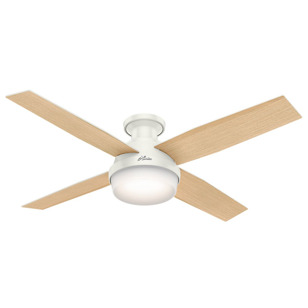 Ceiling Fan Wiring Have For Sale Hunter 59242 Dempsey Low Profile Fresh White With Light Remote 52