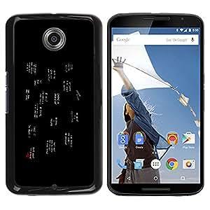 NEXUS 6 / X / Moto X Pro - Metal de aluminio y de plástico duro Caja del teléfono - Negro - Popular Slogans