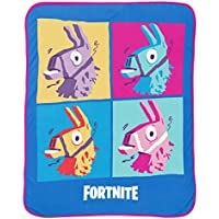 Jay Franco Fortnite Blue Llama Travel Blanket - Measures...