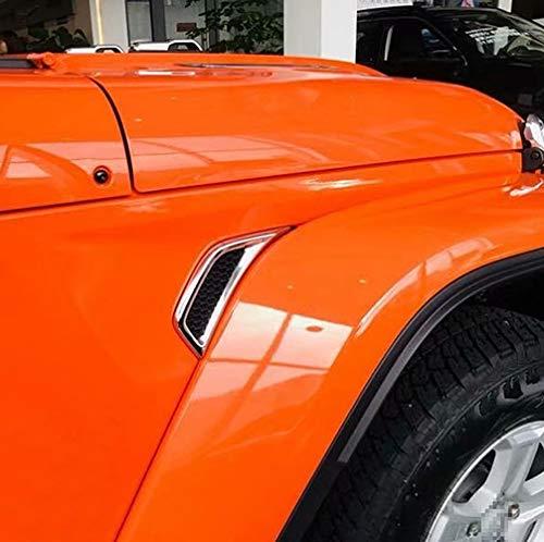 NINTE Side Air Vent Cover for Jeep Wrangler JL 2018 2019, ABS Chrome Door Fendel Frame Trim