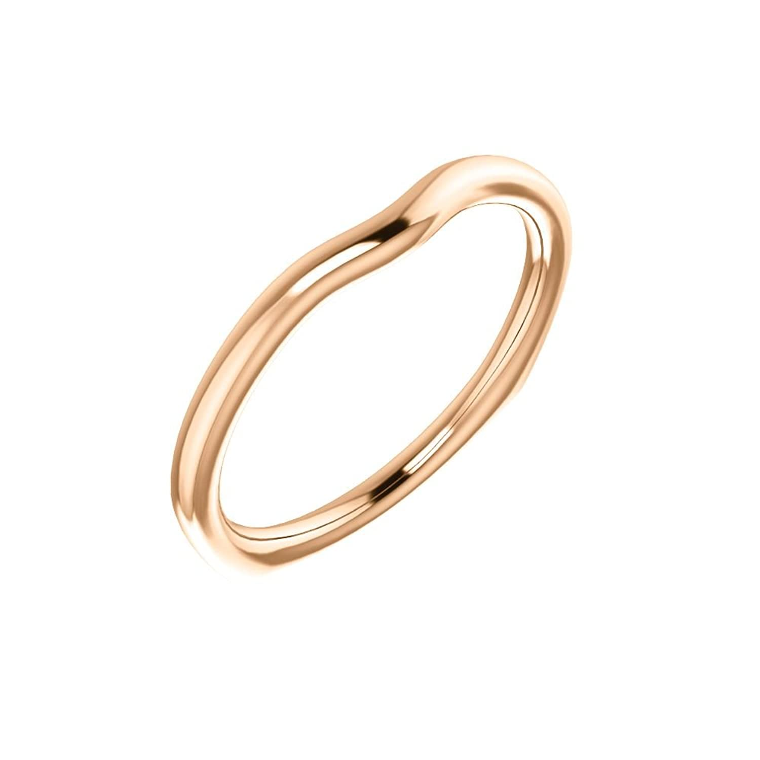 STU001- 18K Rose Band for 5mm Cushion Ring
