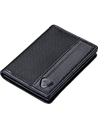 Ballistic Nylon RFID Wallets for Women + Men, Travel Accessories 2 Credit Card Slot, 1 ID Sleeve Wallet, Black