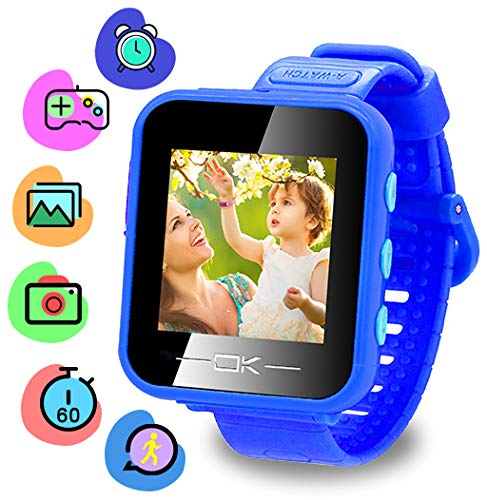 Binteng Toys for 4-8 Year Old Kids Smart Watch for Kids smartwatch with Camera Pedometer USB Charging Kids Watches Games Best Christmas Birthday Gifts for Boys Girls (Dark Blue)