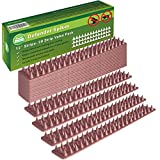 Defender Spikes 20pk [20 Foot] Cat Repellent [Protect Your Property] Outdoor Fence Security Control to Keep Off Cats Out. Plastic Deterrent Anti Theft Climb Strips
