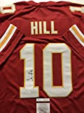 Autographed/Signed Tyreek Hill Kansas City Chiefs Red Football Jersey JSA COA