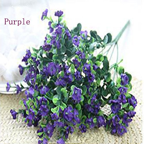 Fityle 10Pcs 33cm Long Baby Breath Gypsophila Wedding Decoration White Colour Silk Artificial Flowers Branches
