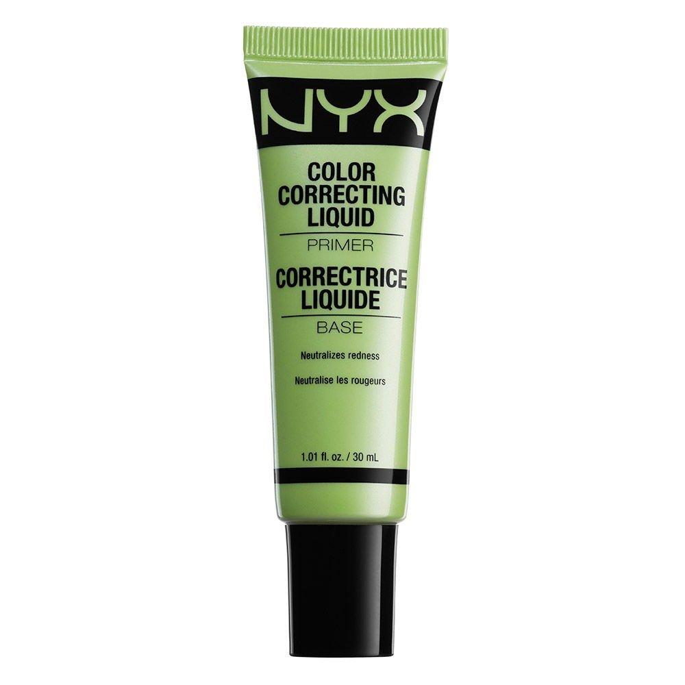NYX Nyx cosmetics color correcting liquid primer green