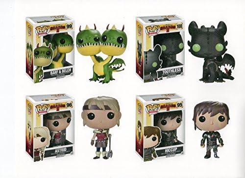 Cómo Entrenar A Tus Dragones Juego De 4 Figuras Pop Hipo Astrid Barf Belch Dientes Toys Games