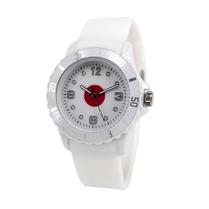Reloj con la bandera de Japón con pulsera de Silicona