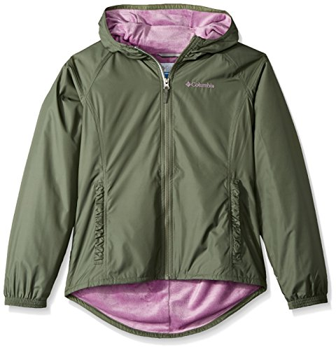 Columbia Girls' Little Boys' Ethan Pond Jacket, Cypress/Violet Haze, Small