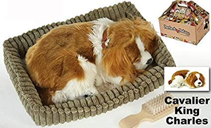 Perfect Petzzz - Cachorro Perro Cavalier King Charles que respira de peluche