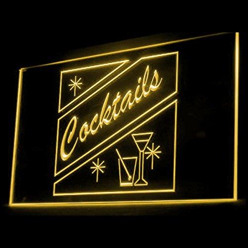 OPEN Cocktails Blend Celebration Lime juice Bar Pub Club LED Light Sign 170012 Color Yellow Juice Bar Led Sign