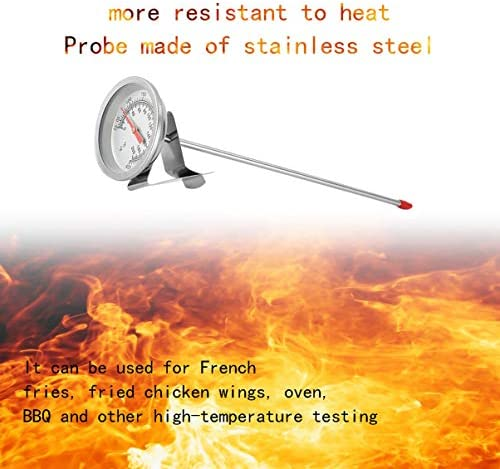 Frittieröl Friteuse Frites Frittierte Hähnchenflügel BBQ Grill Thermometer Edelstahl