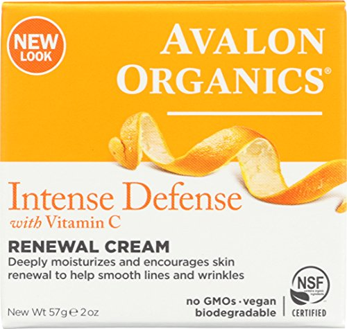 Avalon Organics Intense Defense Renewal Cream, 2 oz. (Pack of ()