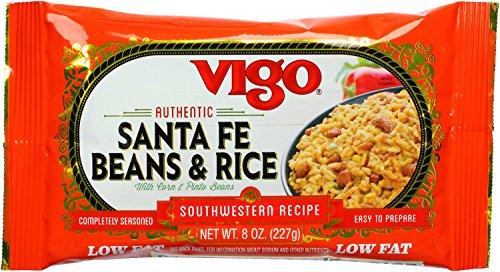 Vigo Santa Fe Pinto Beans & Rice, 8-Ounce Pouches (Pack of 12) by VIGO