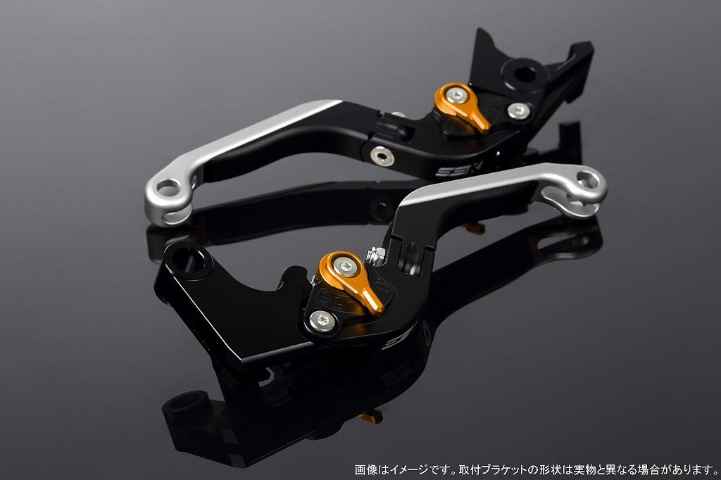 SSK アジャストレバー 可倒延長式 レバー本体カラー:マットブラック アジャスターカラー:マットゴールド エクステンションカラー:マットシルバー CBR600RR PC37 2003-2006 CBR954RR SC50 2002-2003 LVGM010BK-GDSR B07MX84FT2