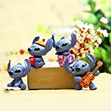 ipod 4 monsters inc case - ZOEAST(TM) 4pcs Stitch Alien Mike Monsters Inc Dust Plug 3.5mm Phone Headphone Jack Earphone Cap Ear Cap Dust Plug Charm iPhone 4 4S 5 5S SE 6 6S Plus HUAWEI Samsung IPad IPod etc. (Stitch 4pcs)